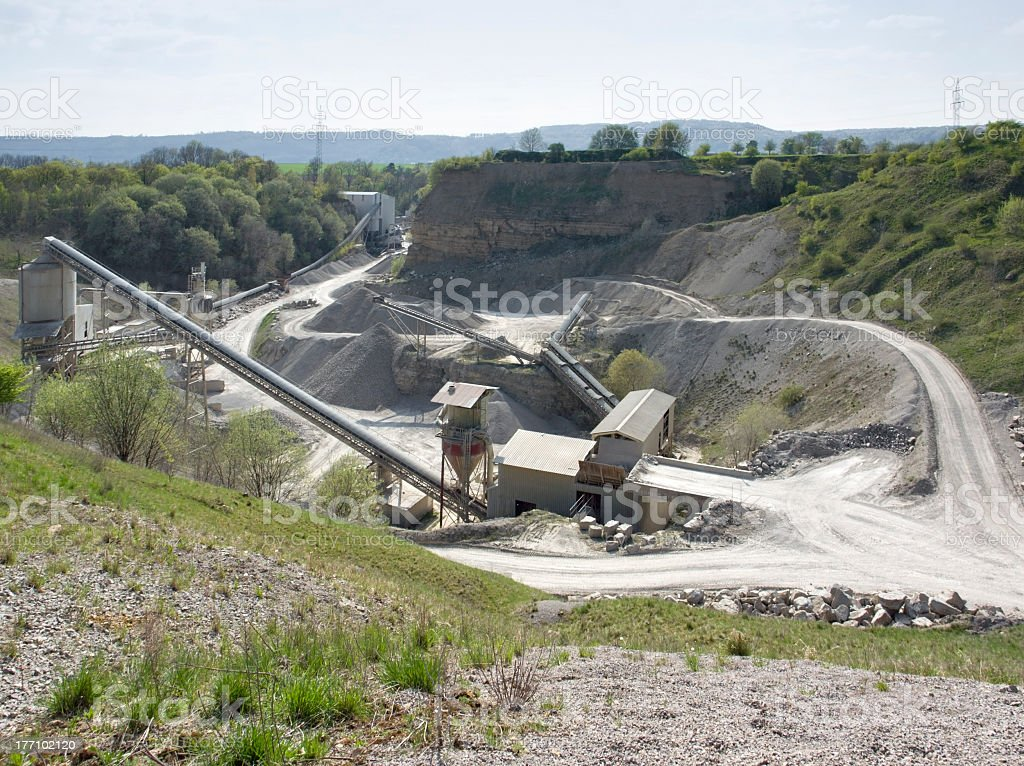 stone pit at summer time stock photo