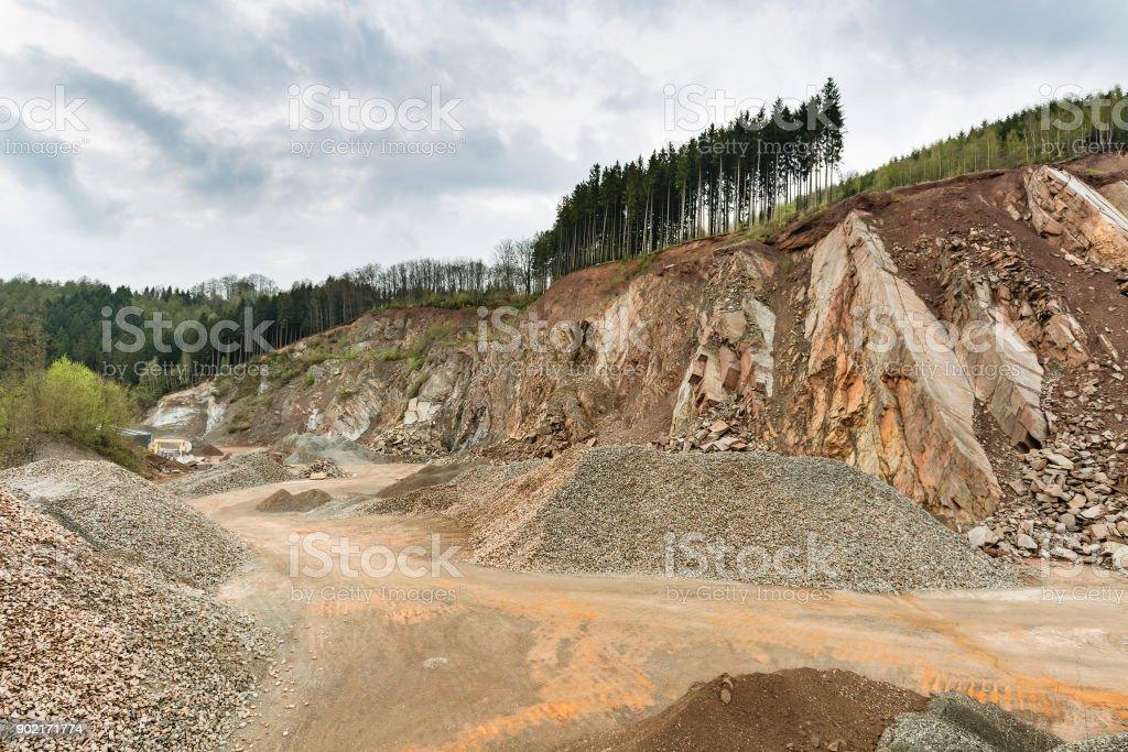Stein-Grube in den Ardennen, Belgien – Foto