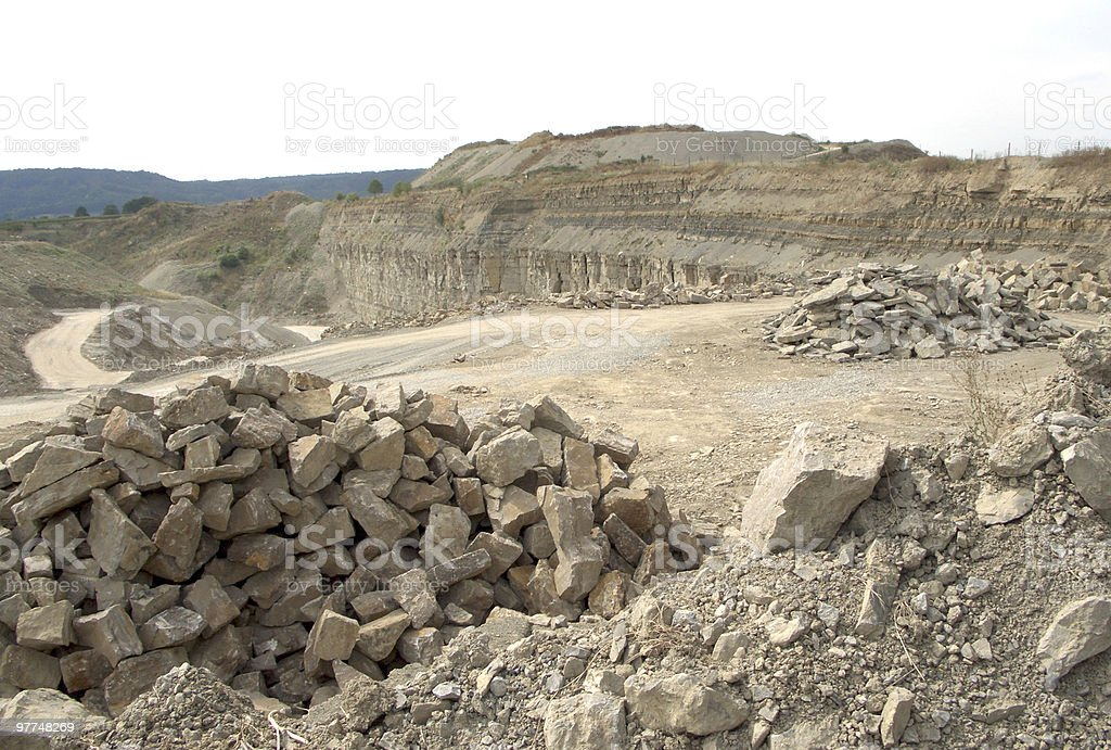 stone pit scenery royalty-free stock photo