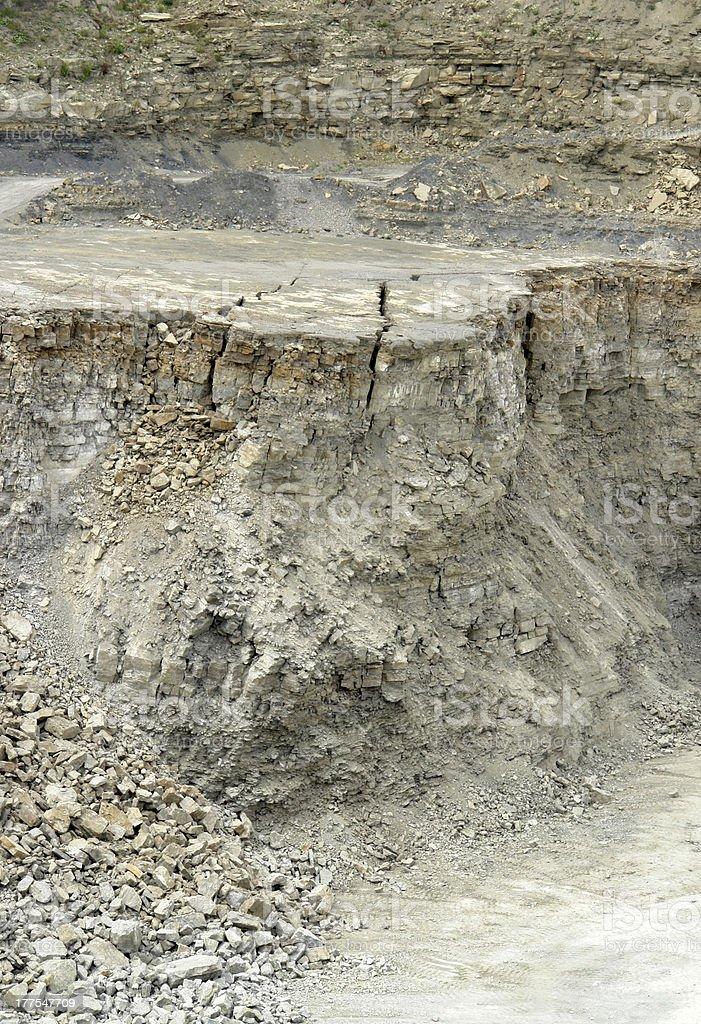 stone pit walls stock photo