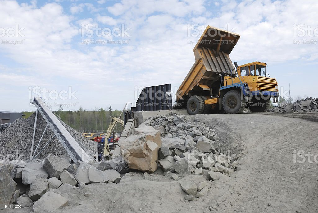stone quarry royalty-free stock photo