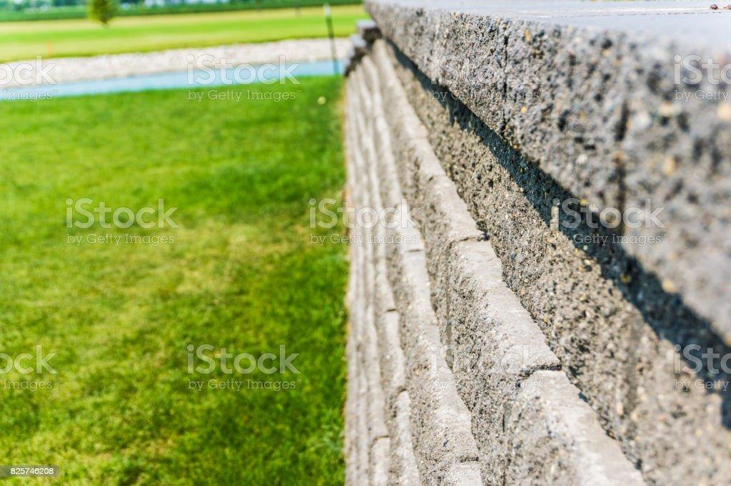 Stone Retaining Wall stock photo