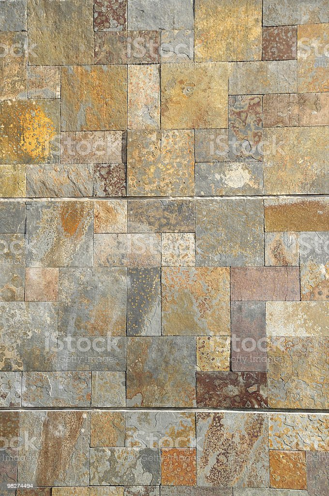 Stone revetment royalty-free stock photo