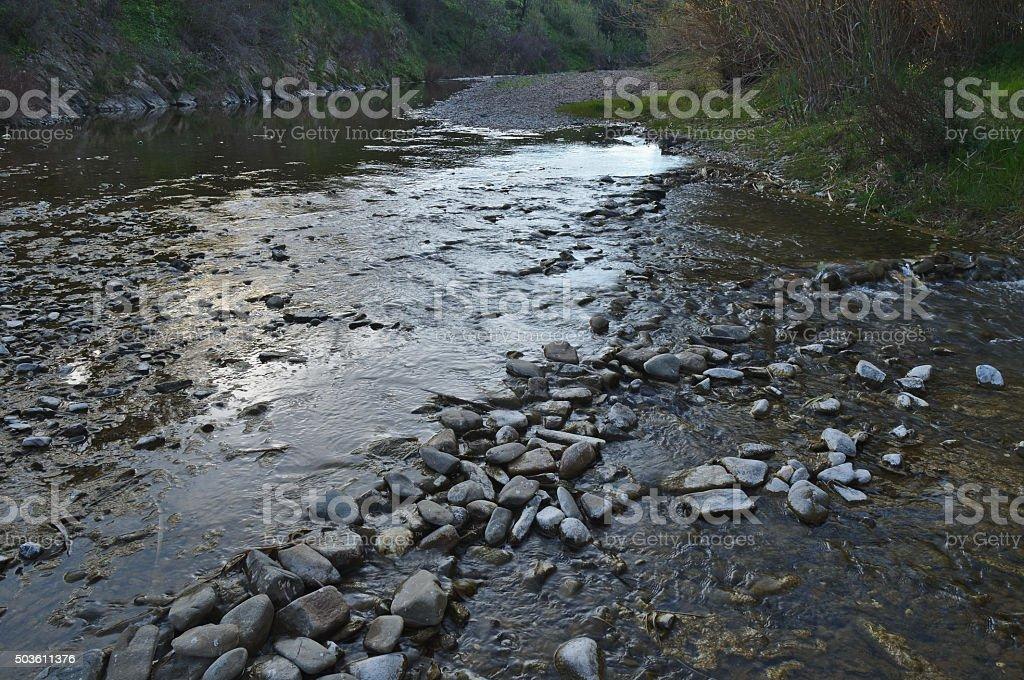 Stone River Crossing stock photo