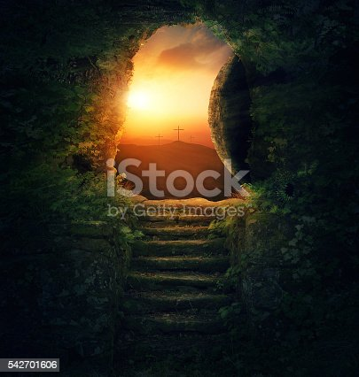 istock Stone rolled away 542701606