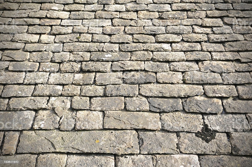 Stone Roof Tiles royalty-free stock photo