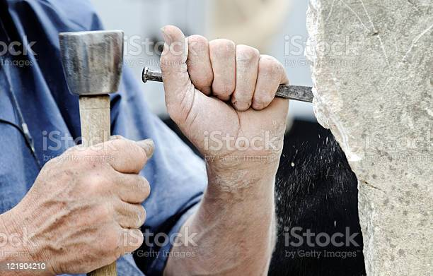 Stone Sculptor Stock Photo - Download Image Now
