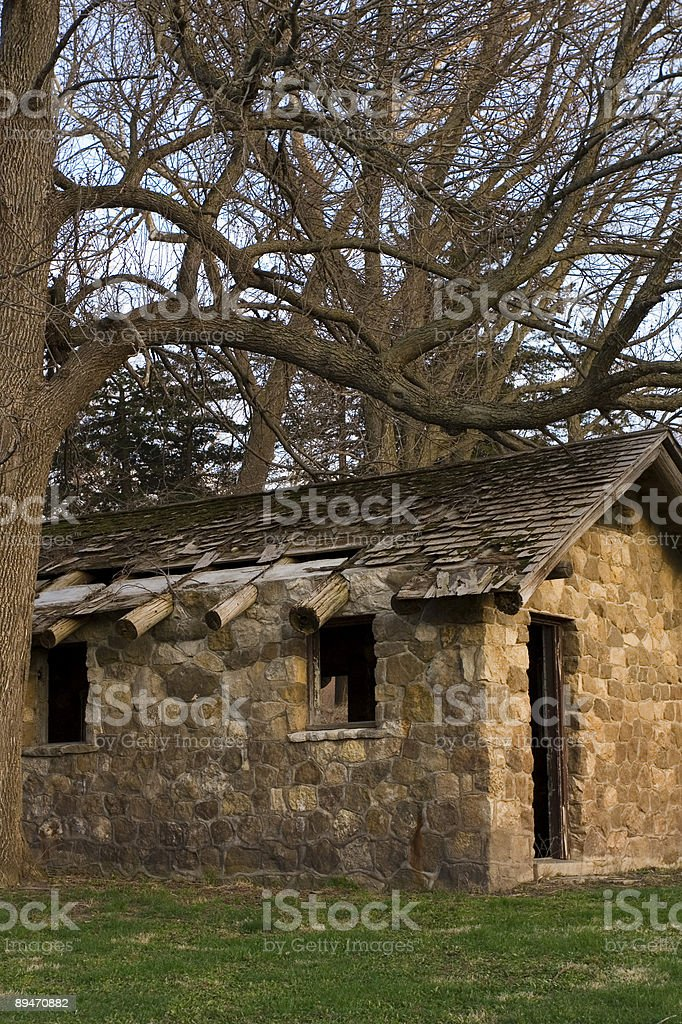 stone shelter royalty-free stock photo
