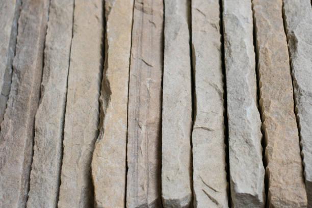 Steinplatten - gestapelte Steinplatten abstrakten Hintergrund – Foto