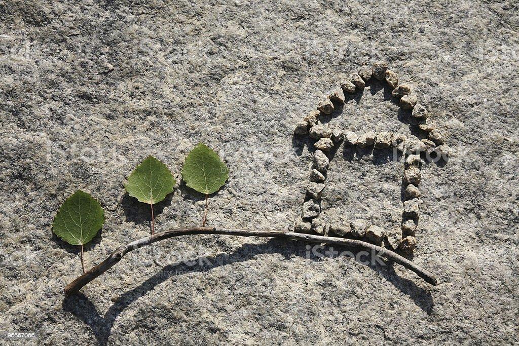 Stone small house royalty-free stock photo