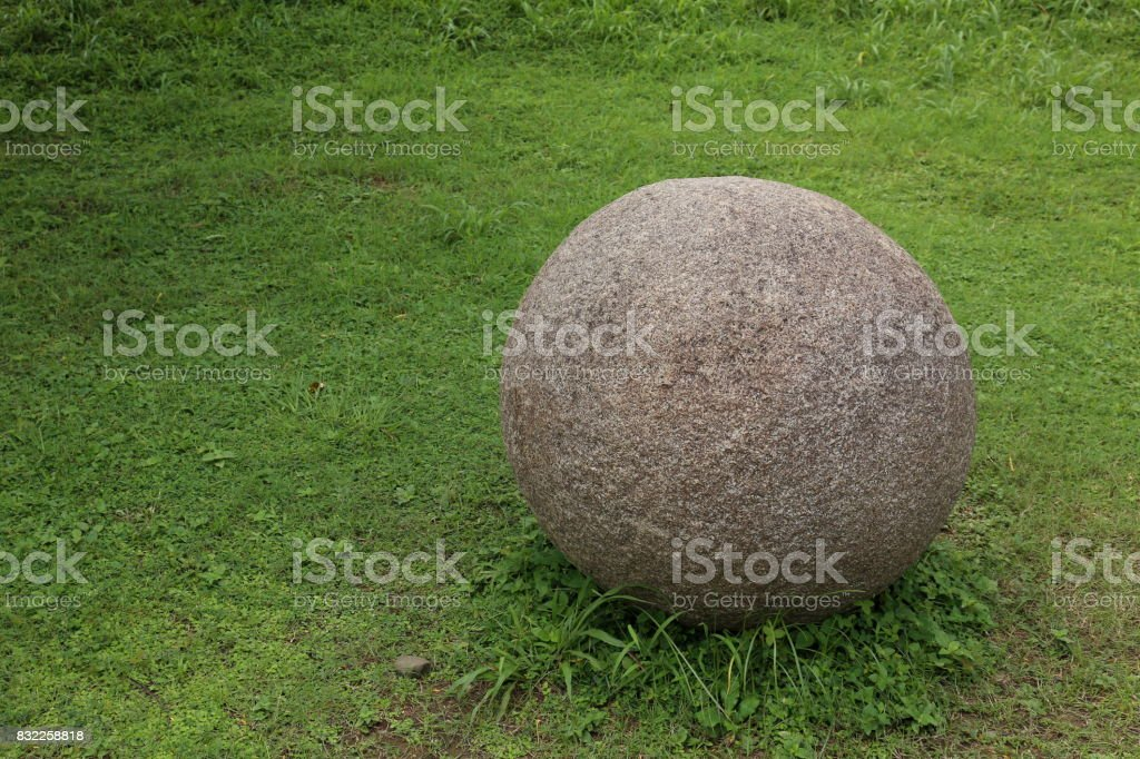 Stone spheres of Costa Rica stock photo