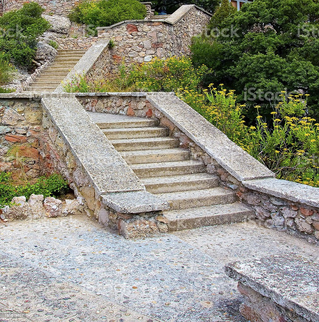 stone stair in mountains royalty-free stock photo