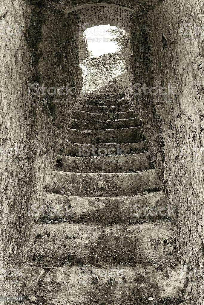Stone stair royalty-free stock photo