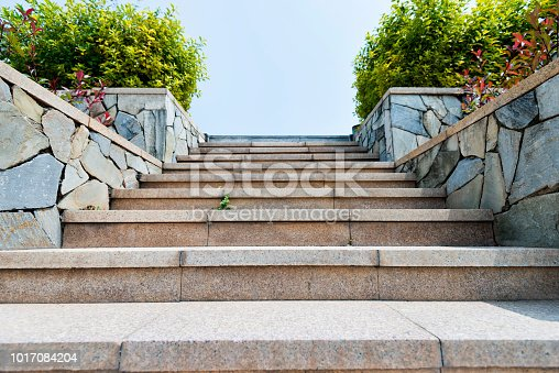 Stone staircase in the park.