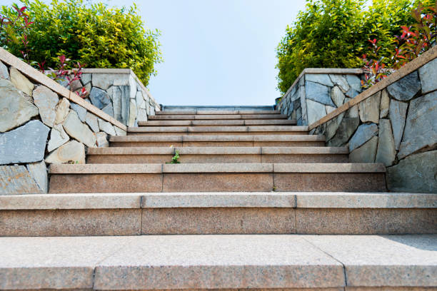 Stone staircase in the park Stone staircase in the park. steep stock pictures, royalty-free photos & images