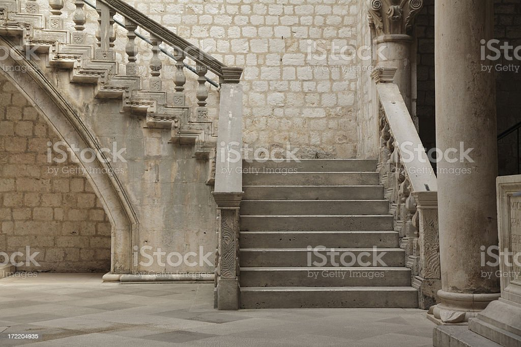 Stone staircase. stock photo
