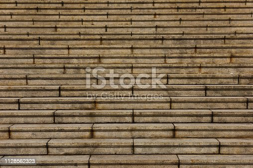 Full frame of stone stairs of abstract background.