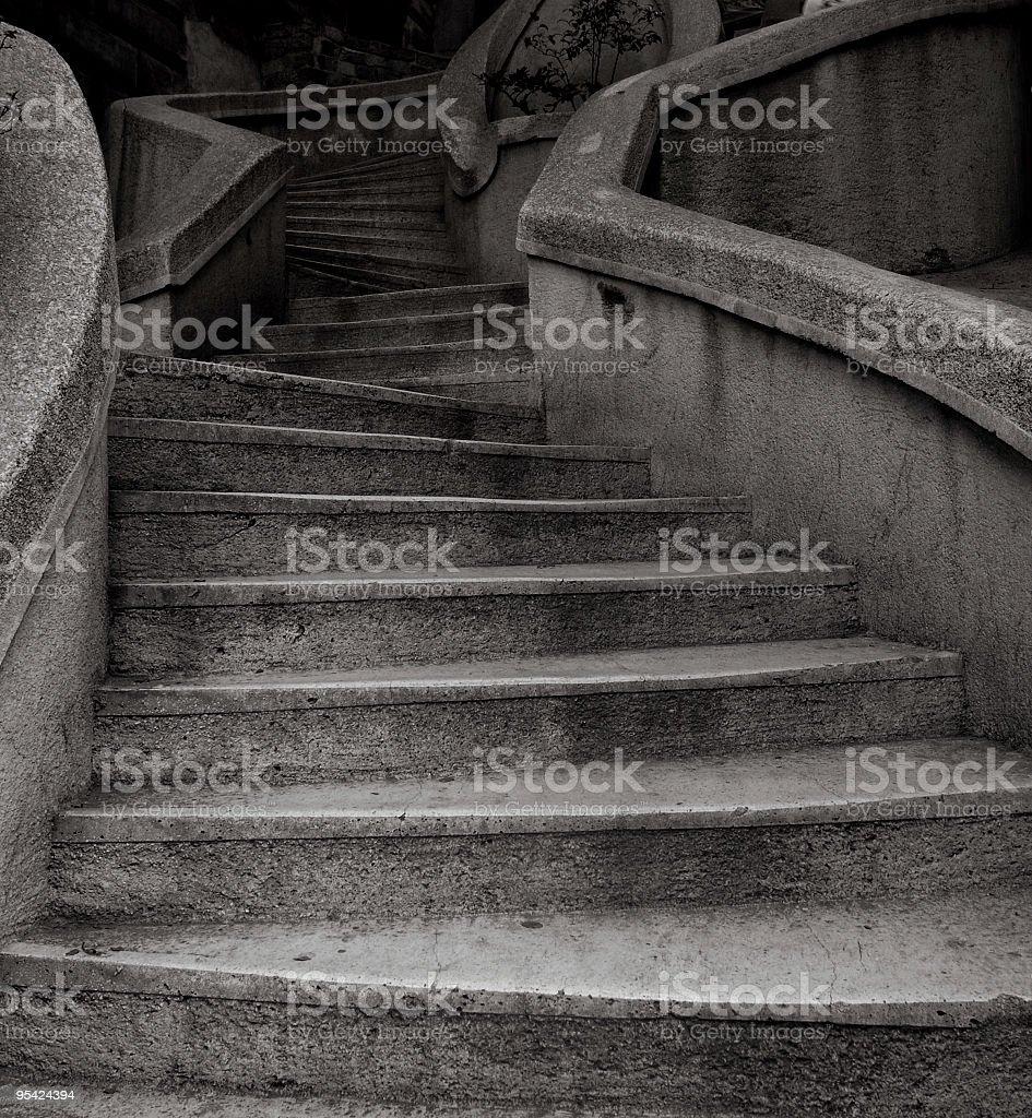 stone stairway stock photo