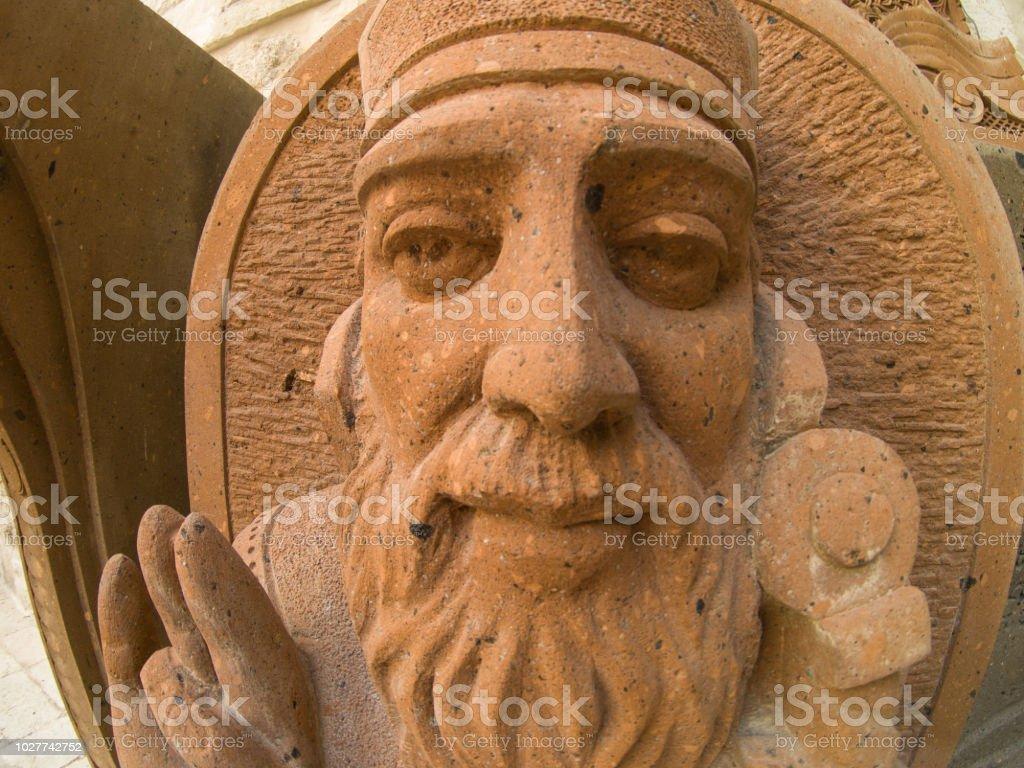 Estatua de piedra de en la Dormition Abbey, viejo Jerusalén, Israel - foto de stock