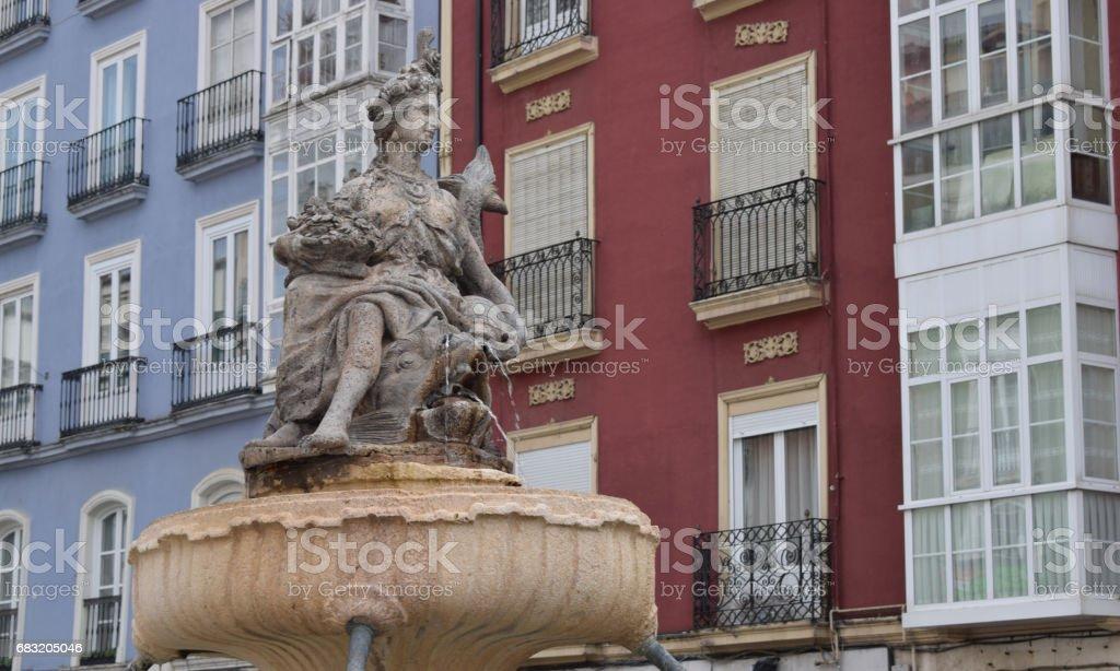 Stone statue of a fountain. foto de stock royalty-free