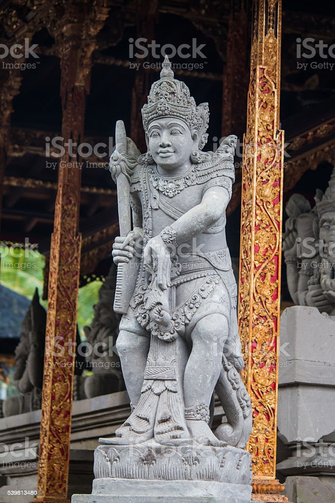 Stone statue of Vishnu in Gunung Kawi, Bali, Indonesia stock photo