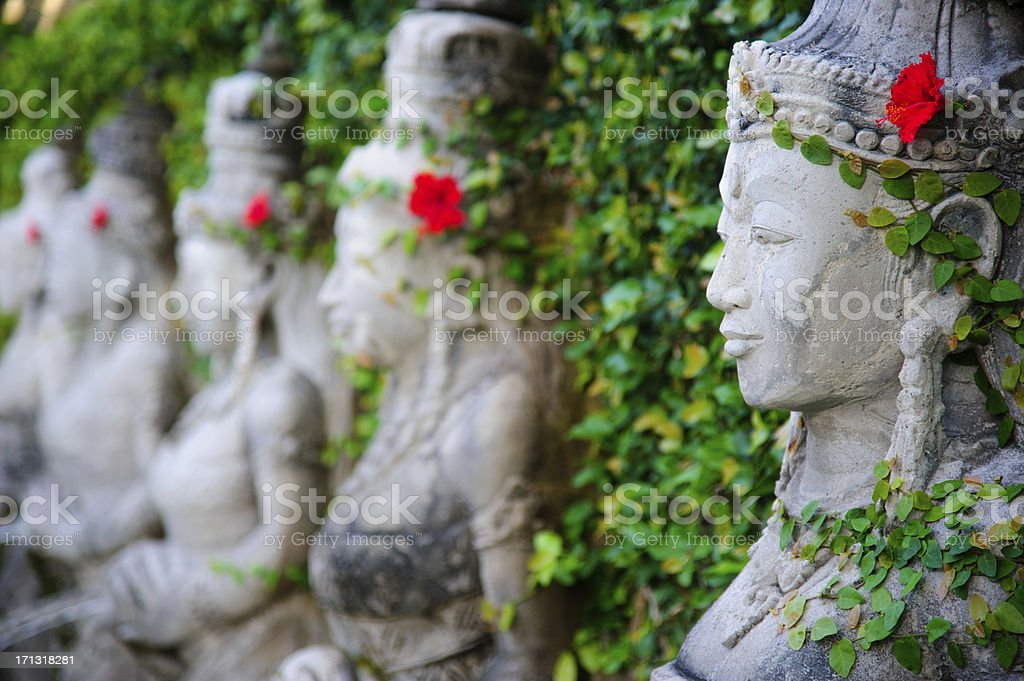 Stone Statues in Bali stock photo