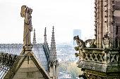 Gargola de Notre Dame con la Torre Eiffel de fondo