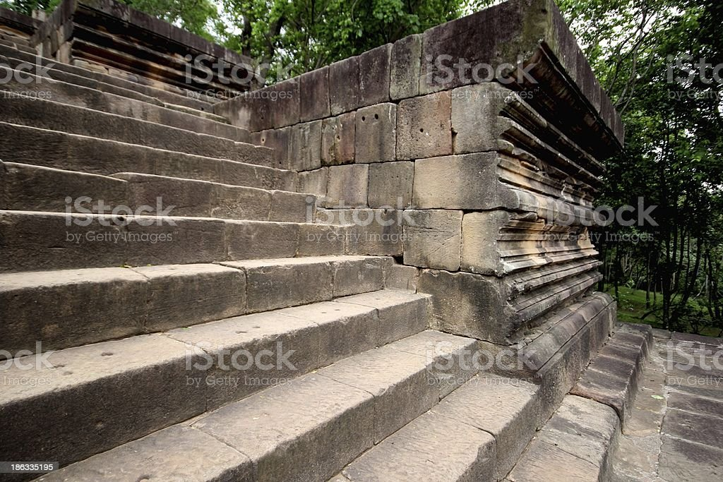 Stone steps. royalty-free stock photo