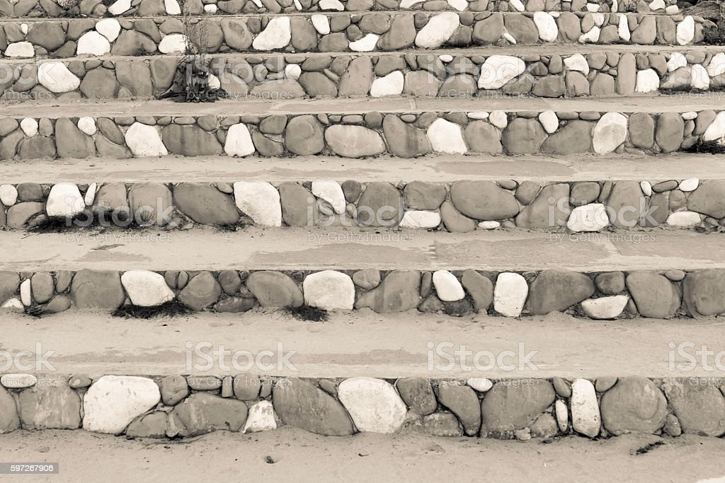 stone steps with an abstract pattern of beige color royalty-free stock photo