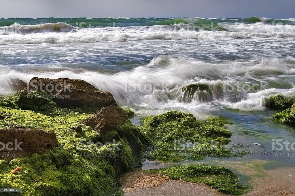 Stone surf royalty-free stock photo