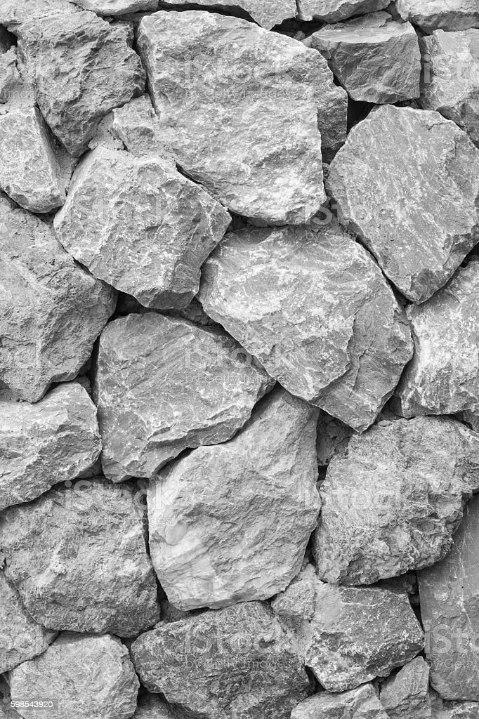 stone texture wall background ,grayscale photo libre de droits