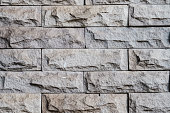 Stone bricks were ordered and glued as a wall