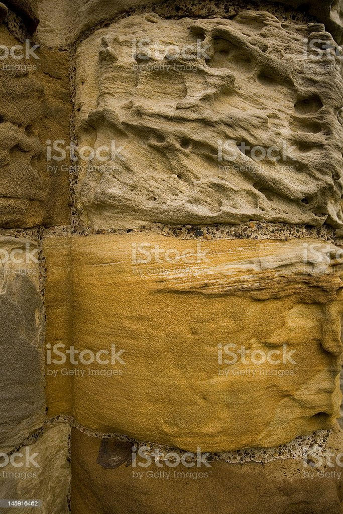 Stone textures of Whitby Abbey stock photo