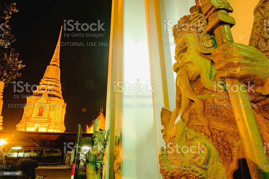 Stone Thai-Chinese style sculpture stock photo