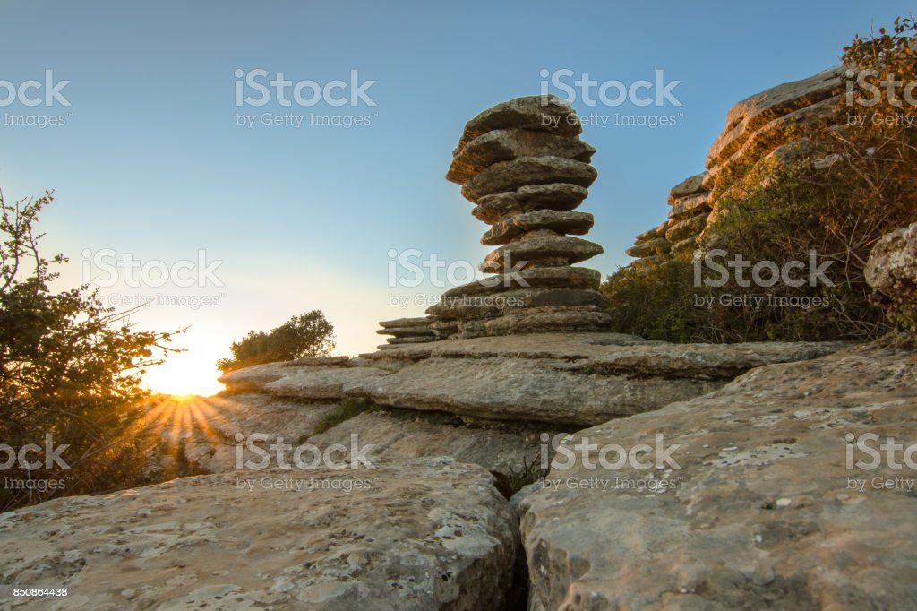 stone the screw at sunset stock photo