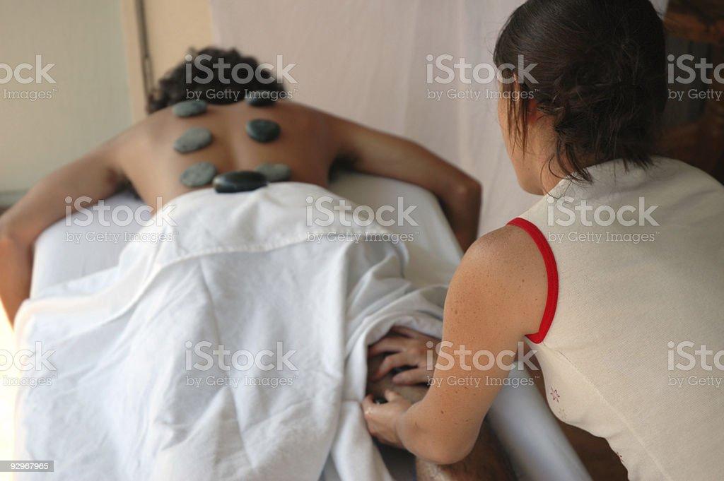 stone therapy massage royalty-free stock photo