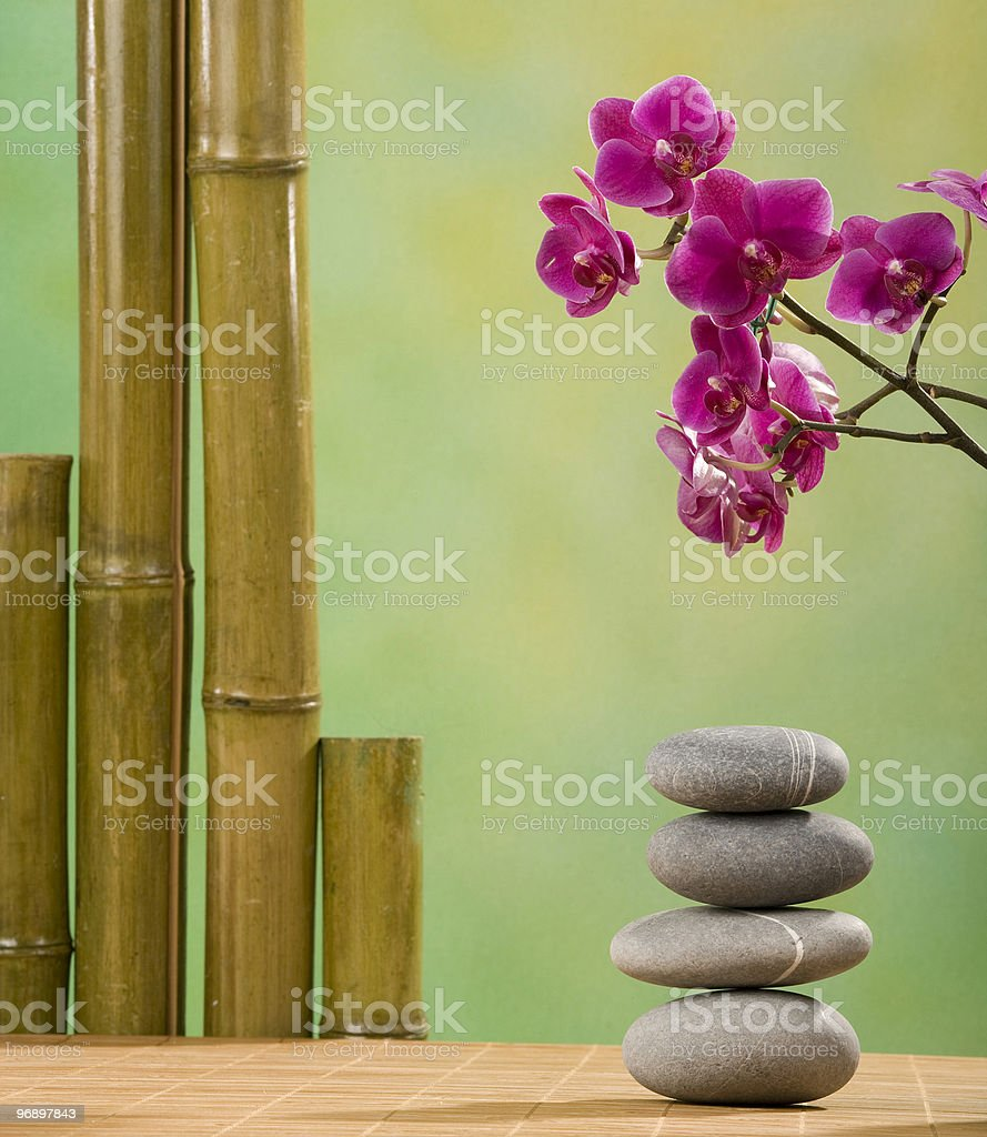 stone therapy on the spa royalty-free stock photo