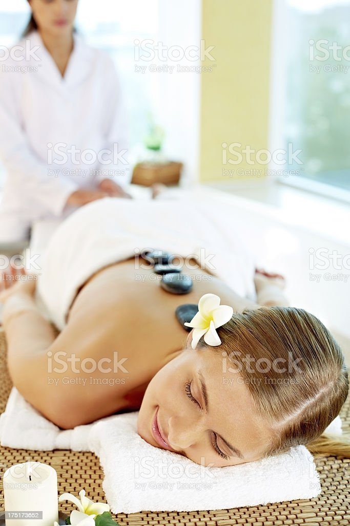 Stone therapy royalty-free stock photo