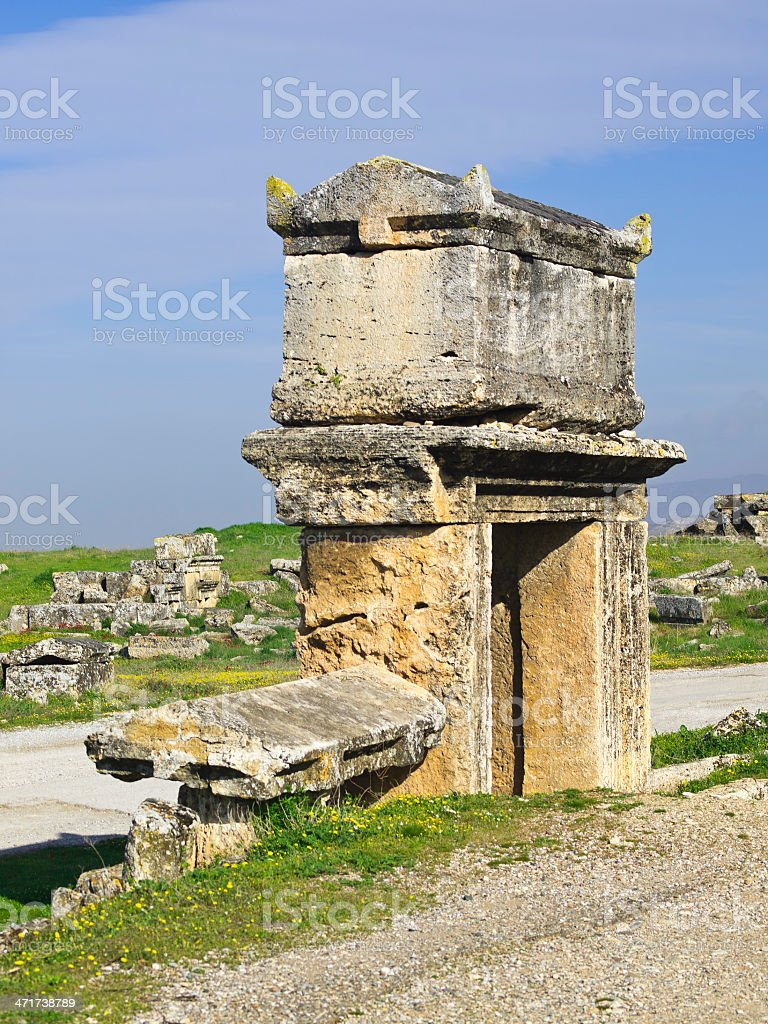 Stone Tomb royalty-free stock photo