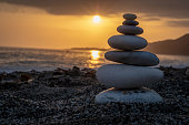 stone totem for Buddhism meditation and relaxation