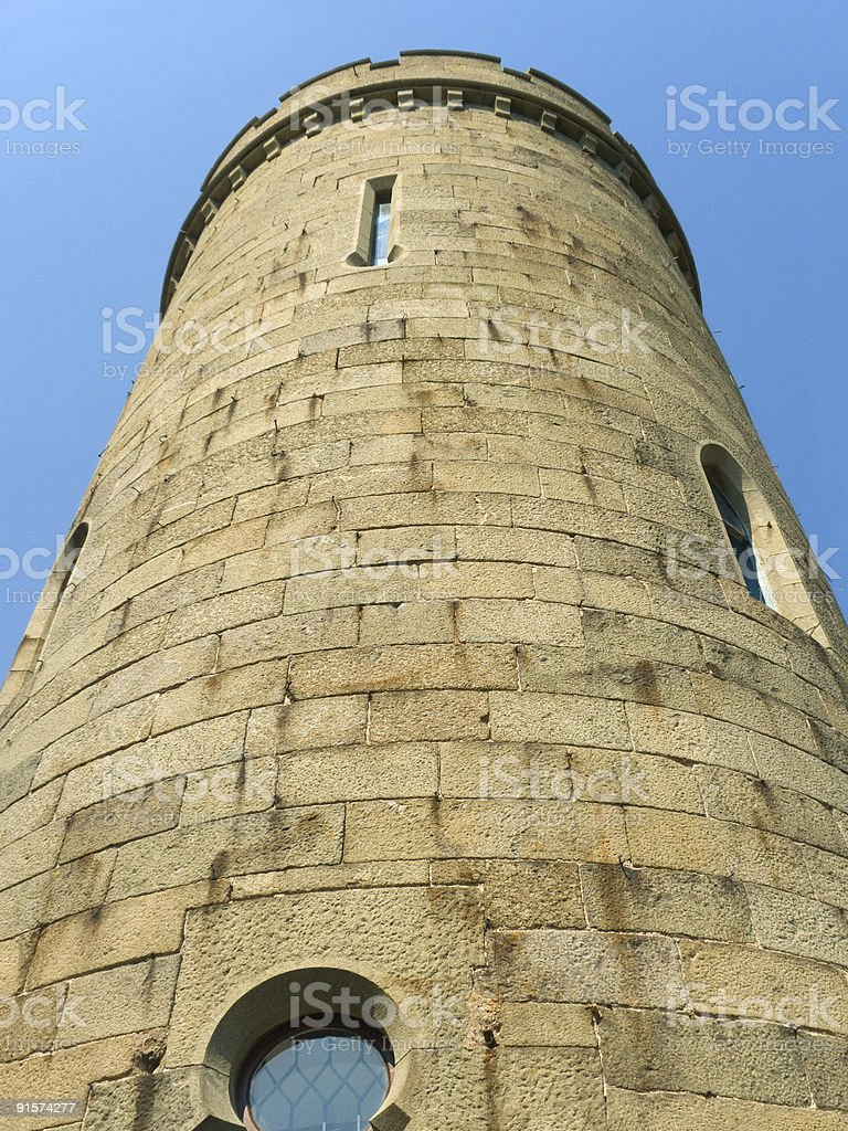 Stone tower of old castle royalty-free stock photo