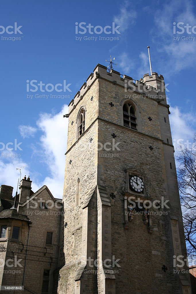 stone tower Oxford royalty-free stock photo