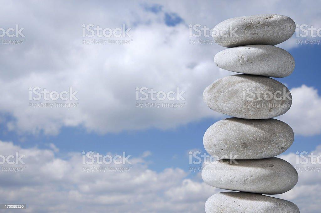 stone tower stock photo
