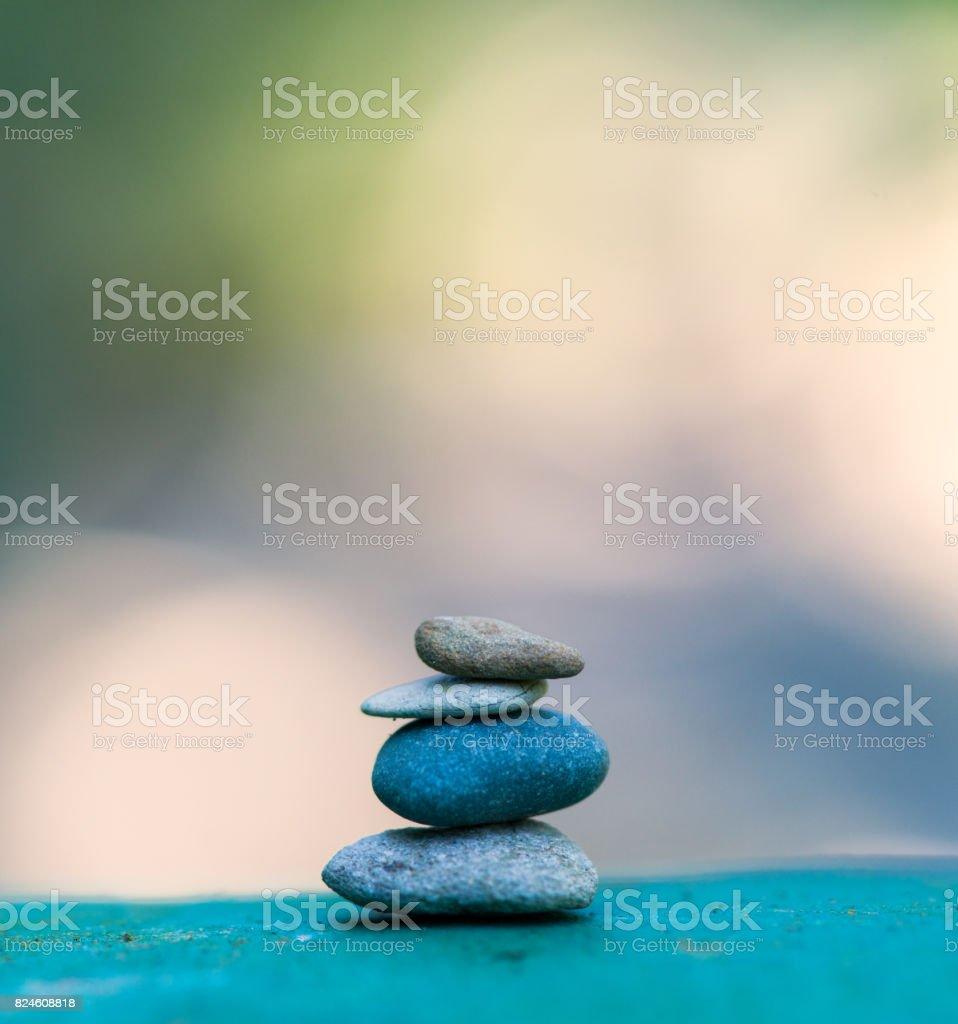 stone tower. zen stones stock photo