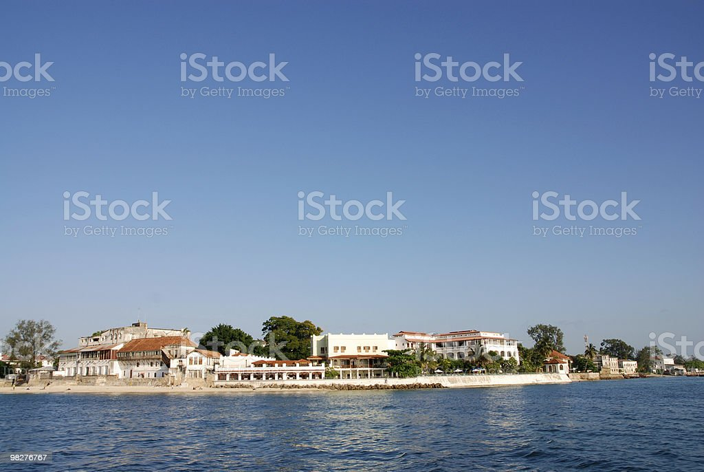 Stone Town from seaside royalty-free stock photo