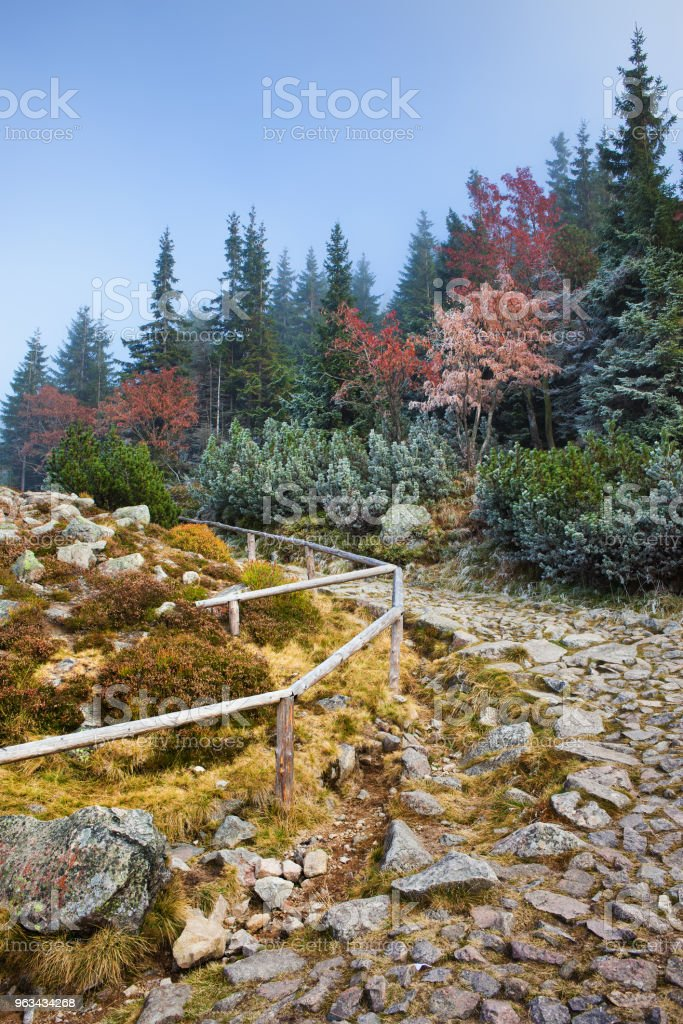 Stone Trail in the Mountains - Zbiór zdjęć royalty-free (Balustrada - Granica)