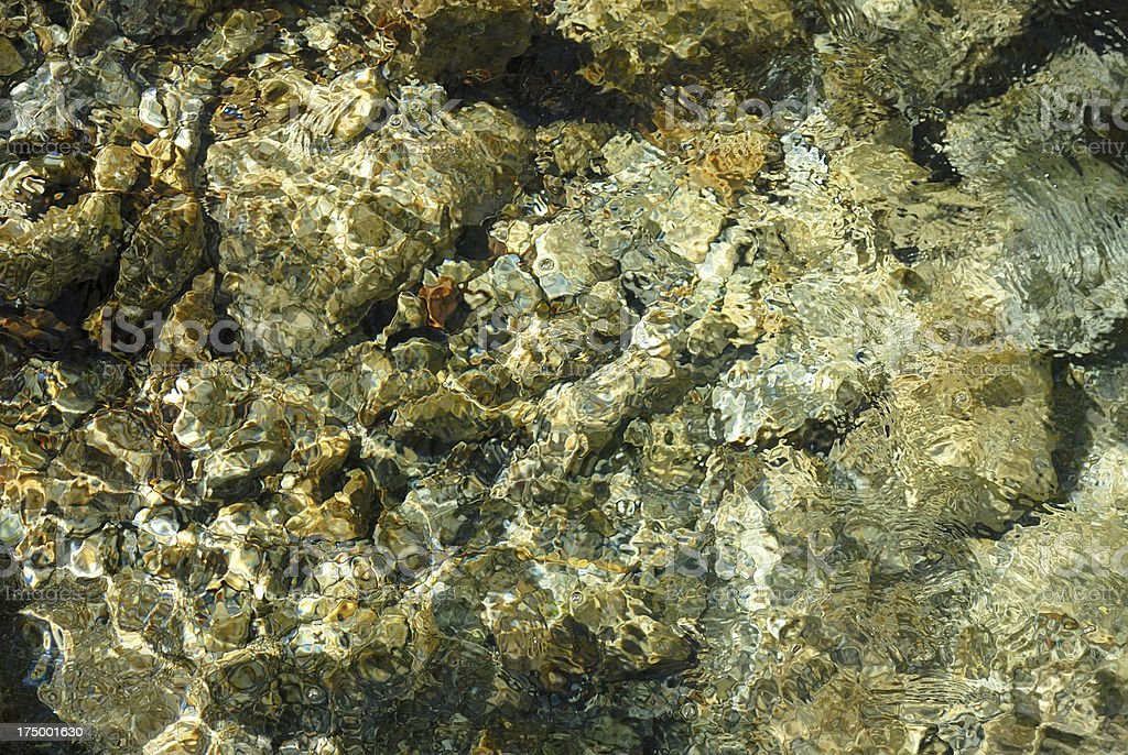 stone underwater royalty-free stock photo