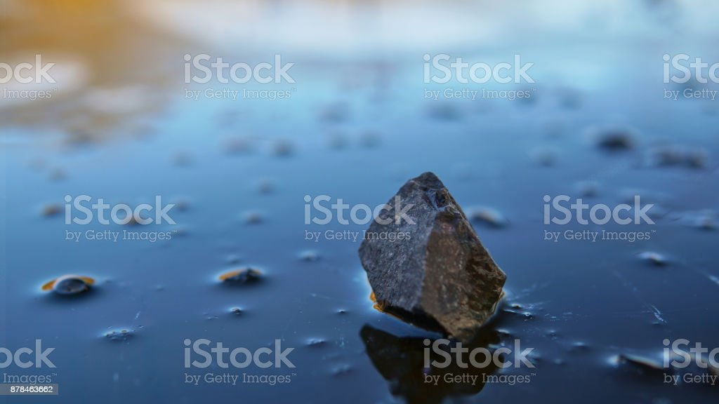 Stone upon Ice, mid winter 1 stock photo