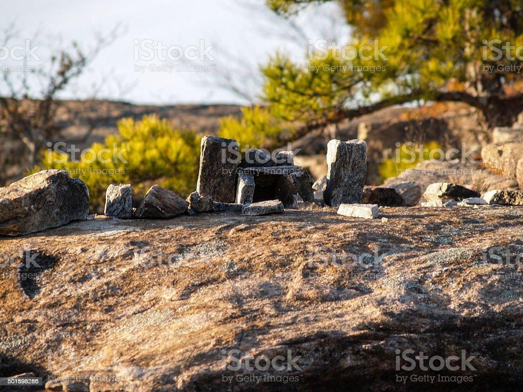 Stone Village stock photo