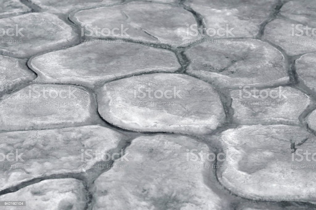 stone walkway background gray rock texture in natural pattern with